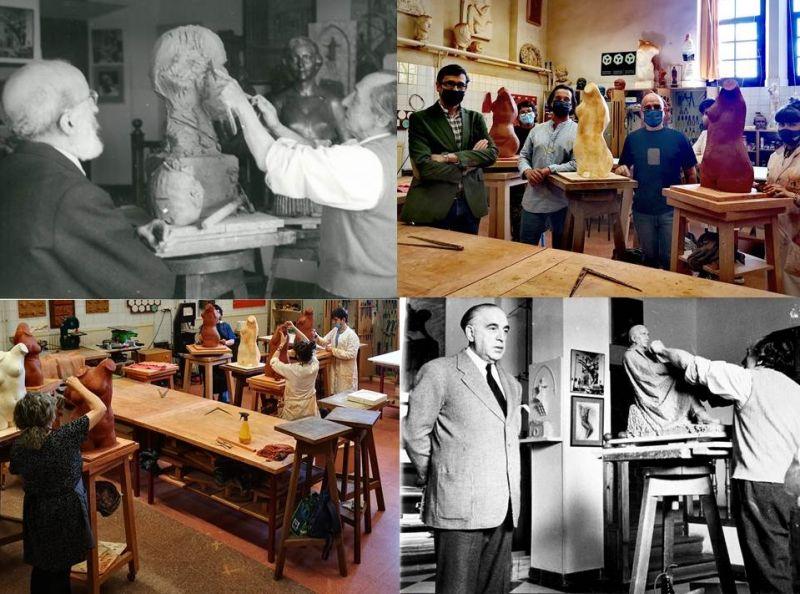 La Fundación cede varios tornos originales de Victorio Macho a la Escuela de Arte